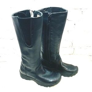 KEEN Silverton Black Leather Insulated Boots 5.5